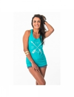 Mystic Facile Singlet, Pacific Green